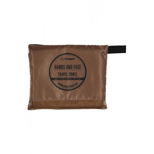 Default Hands & Face Travel Towel Coyote Tan