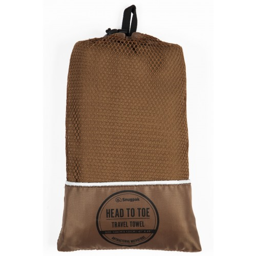 Default Head to Toe Travel Towel Coyote Tan