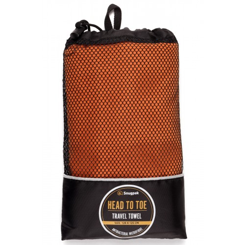 Default Head to Toe Travel Towel Orange