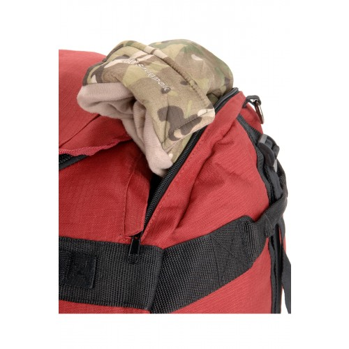 red Kitmonster 65L with gear inside 2