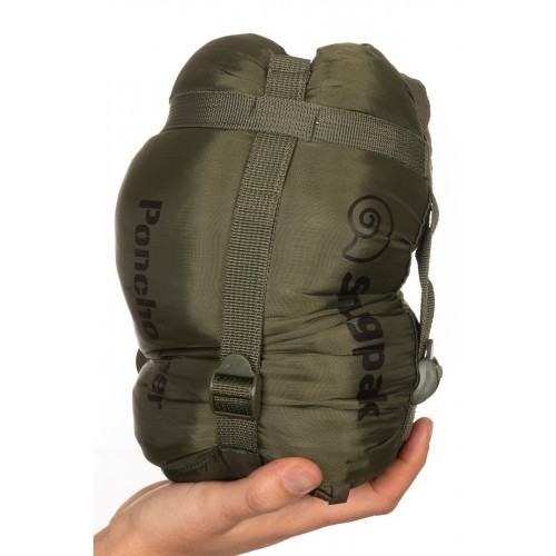 Insulated Poncho Liner in bag olive