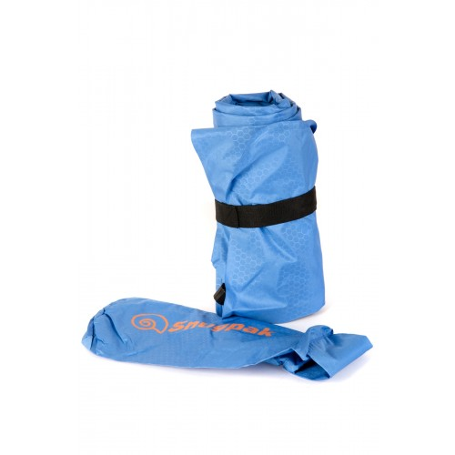 Packsize Air Mat with Foot Pump Blue 1