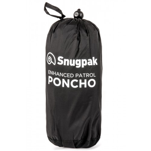 Packsize Enhanced Patrol Poncho Black