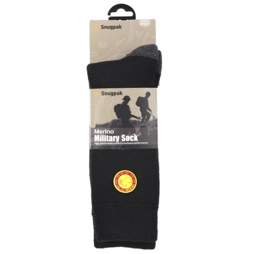 Packsize Merino Military Sock Black 1