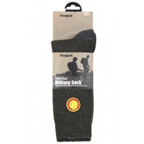 Packsize Merino Military Sock Olive 1