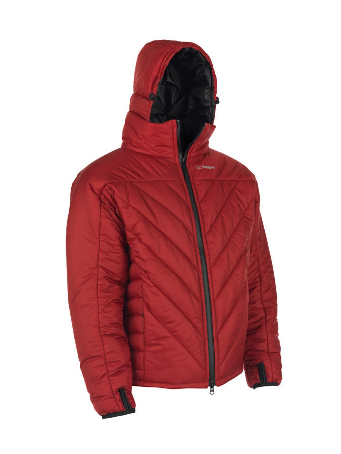 red insulated jacket