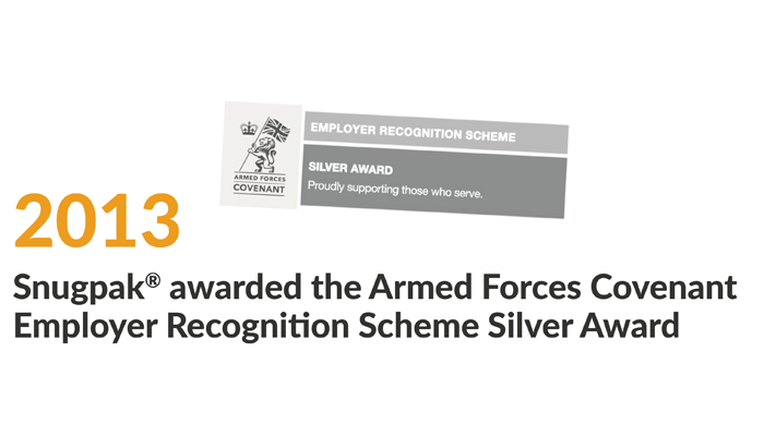 snugpak awarded the armed forces covenant employer recognition scheme silver award