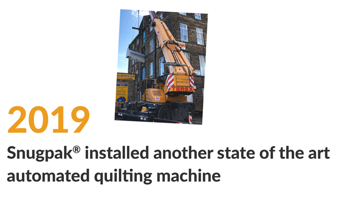 installing state of the art automated quilting machine