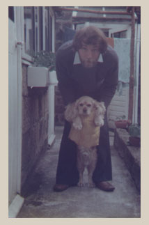 brett with his dog